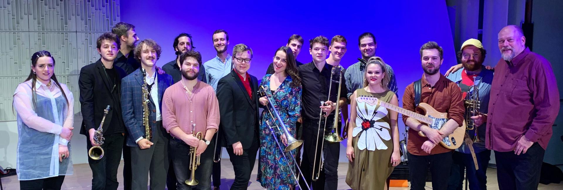 Euroradio Jazz Orchestra Tour (photo of the orchestra)